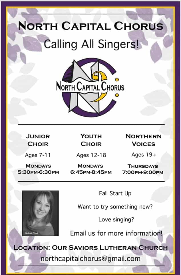 Recruitment Poster for North Capital Chorus