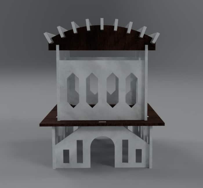 3D Building Front